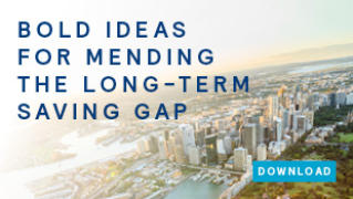 Bold ideas for mending the long-term saving gap